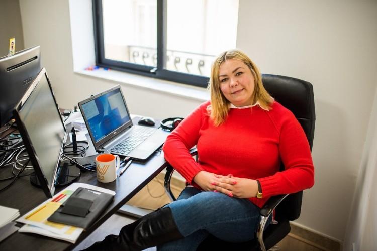 Oksana at work