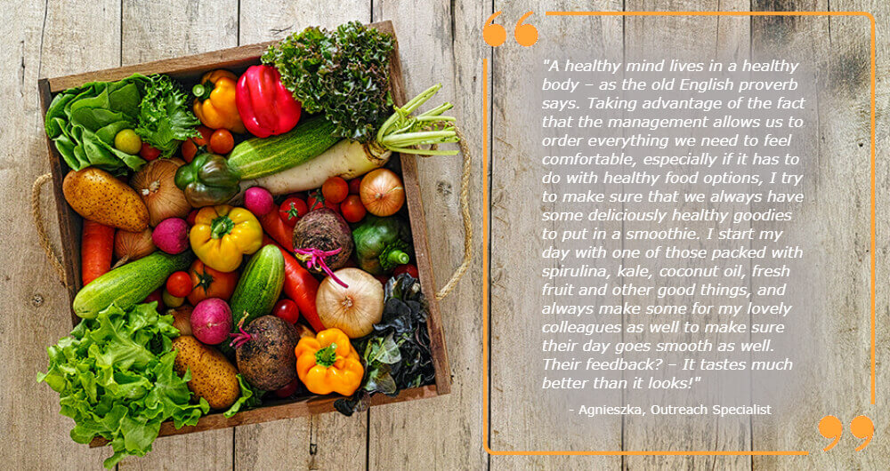 healthy food options Quote Agneiszka