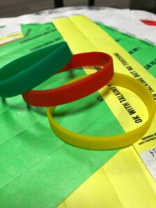 A picture containing of wristbands